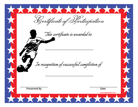 Certificate creator create and print awards and for Sports day certificate templates free
