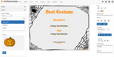 Certificate Creator - Create and print awards and